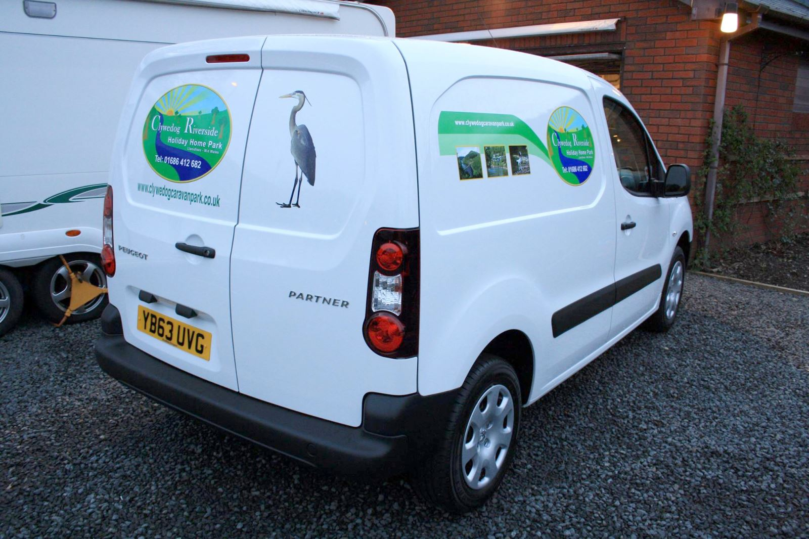 Clywedog Riverside Holiday Home Park Branding on their vans