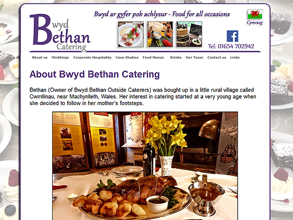 Bwyd Bethan Catering Website Design