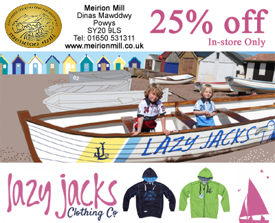 Meirion Mill and Shop - Lazy Jacks Facebook Promotion
