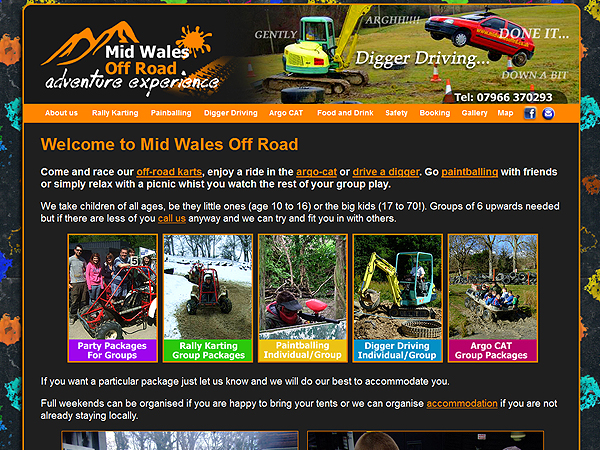 Mid Wales Off Road - Newtown, Powys - Website Design