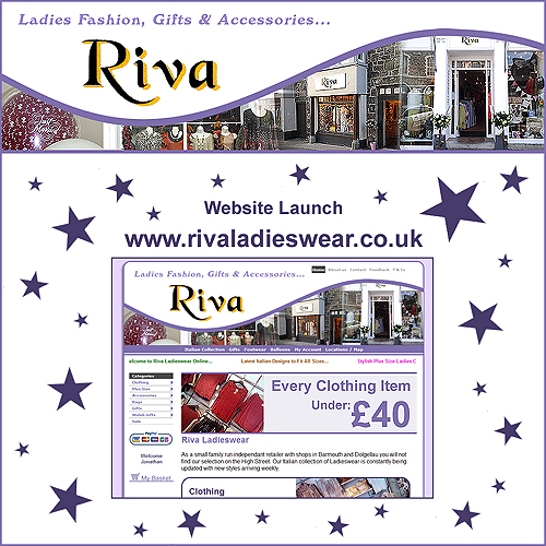 Riva Ladieswear Website Launch Facebook / Twitter